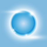 Fondo azul del extracto del vector del círculo del resplandor del diseño Imagen de archivo