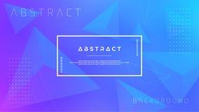 Fondo azul del extracto, moderno, dinámico, de moda del triángulo para los carteles, banderas, páginas web, jefes, y otro ilustración del vector