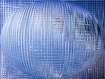Fondo azul del globo del mundo Imagen de archivo libre de regalías