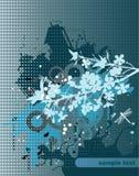 Fondo azul del grunge stock de ilustración