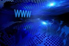 Fondo azul del Internet Foto de archivo