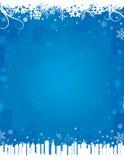 Fondo azul del invierno Imagen de archivo
