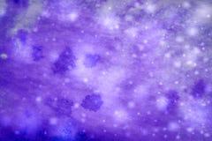 Fondo azul del invierno abstracto con los copos de nieve Foto de archivo
