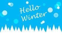 Fondo azul del invierno para el diseño Fotografía de archivo libre de regalías
