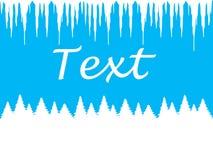Fondo azul del invierno para escribir el texto Imagen de archivo libre de regalías
