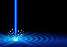 Fondo azul del laser stock de ilustración