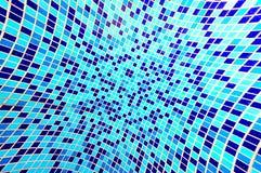 Fondo azul del mosaico Imagen de archivo