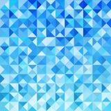 Fondo azul del mosaico Foto de archivo libre de regalías