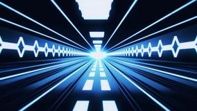 fondo azul del movimiento de Loopable del túnel de Tron de la ciencia ficción 3D libre illustration