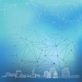 Fondo azul del negocio de la energía Imágenes de archivo libres de regalías