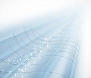 Fondo azul del negocio de la tecnología de la falta de definición abstracta