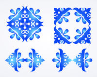 Fondo azul del ornamento Foto de archivo