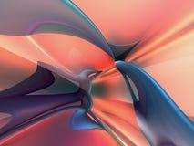 fondo azul del papel pintado del melocotón abstracto 3D Foto de archivo