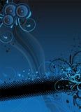 Fondo azul del partido Fotografía de archivo libre de regalías