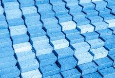 Fondo azul del paso Fotografía de archivo libre de regalías