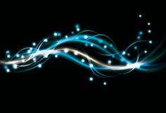 Fondo azul del remolino del efecto luminoso
