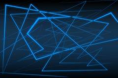 Fondo azul del resplandor Imagenes de archivo