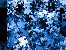 Fondo azul del rompecabezas Imagen de archivo libre de regalías