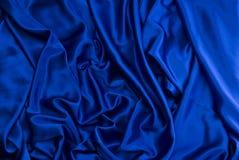 Fondo azul del satén Fotografía de archivo libre de regalías