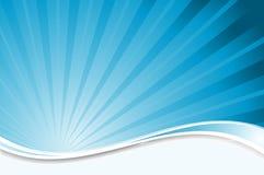 Fondo azul del starburst Foto de archivo