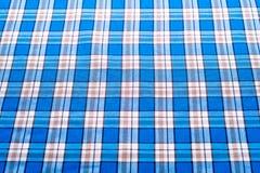 Fondo azul del tartán o de la tela escocesa para el diseño de la moda Fotografía de archivo