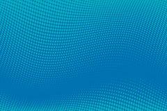 Fondo azul del tono medio del modelo ondulado Contexto punteado cómico con los círculos, puntos, rondas Foto de archivo libre de regalías