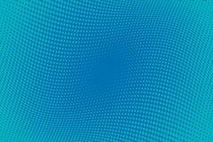 Fondo azul del tono medio del modelo ondulado Contexto punteado cómico con los círculos, puntos, rondas Fotos de archivo