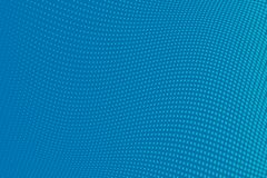 Fondo azul del tono medio del modelo ondulado Contexto punteado cómico con los círculos, puntos, rondas Fotografía de archivo