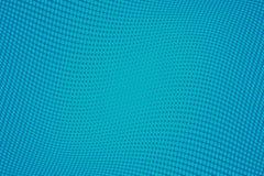 Fondo azul del tono medio del modelo ondulado Contexto punteado cómico con los círculos, puntos, rondas Imagen de archivo libre de regalías