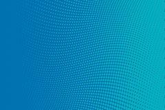 Fondo azul del tono medio del modelo ondulado Contexto punteado cómico con los círculos, puntos, rondas Imagen de archivo