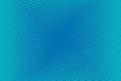 Fondo azul del tono medio del modelo ondulado Contexto punteado cómico con los círculos, puntos, rondas Foto de archivo