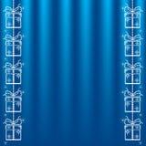 Fondo azul del vector. stock de ilustración