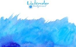 Fondo azul del vector de la acuarela ilustración del vector
