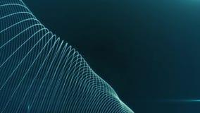 Fondo azul digital futurista abstracto del movimiento, lazo superficial animado ondulado concepto de espacio digital del iternet libre illustration
