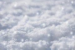 Fondo azul eficaz de la nieve Imagen de archivo libre de regalías