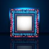 Fondo azul elegante con el marco brillante y lugar para su texto Foto de archivo libre de regalías