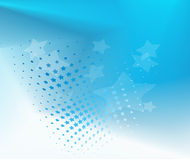 Fondo azul estrellado abstracto Stock de ilustración