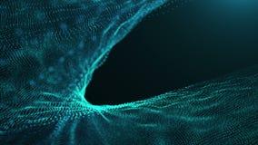 Fondo azul HD de las partículas stock de ilustración