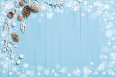 Fondo azul hermoso de la Navidad Fotografía de archivo libre de regalías