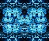 Fondo azul hermoso generado por ordenador artístico abstracto del modelo del efecto del fractal de las flores 3d libre illustration