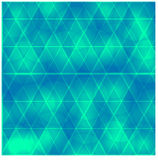 Fondo azul hermoso y un triángulo con los círculos stock de ilustración