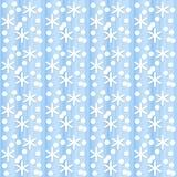 Fondo azul inconsútil con los copos de nieve stock de ilustración