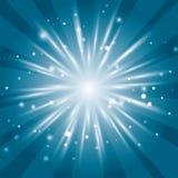 Fondo azul, fondo ligero del sol Fotos de archivo