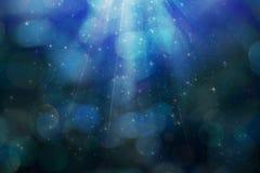 Fondo azul mágico abstracto Imagen de archivo