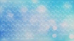 Fondo azul marino de la tabla periódica de los elementos Fotografía de archivo libre de regalías