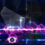 Fondo azul marino y negro abstracto con descarga eléctrica púrpura libre illustration