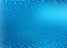 Fondo azul moderno abstracto Ilustración del Vector