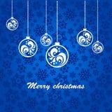 Fondo azul para la Navidad Fotos de archivo libres de regalías