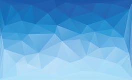Fondo azul poligonal Fotos de archivo libres de regalías