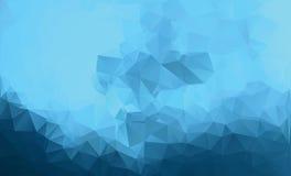 Fondo azul poligonal Estilo polivinílico bajo Fotografía de archivo libre de regalías